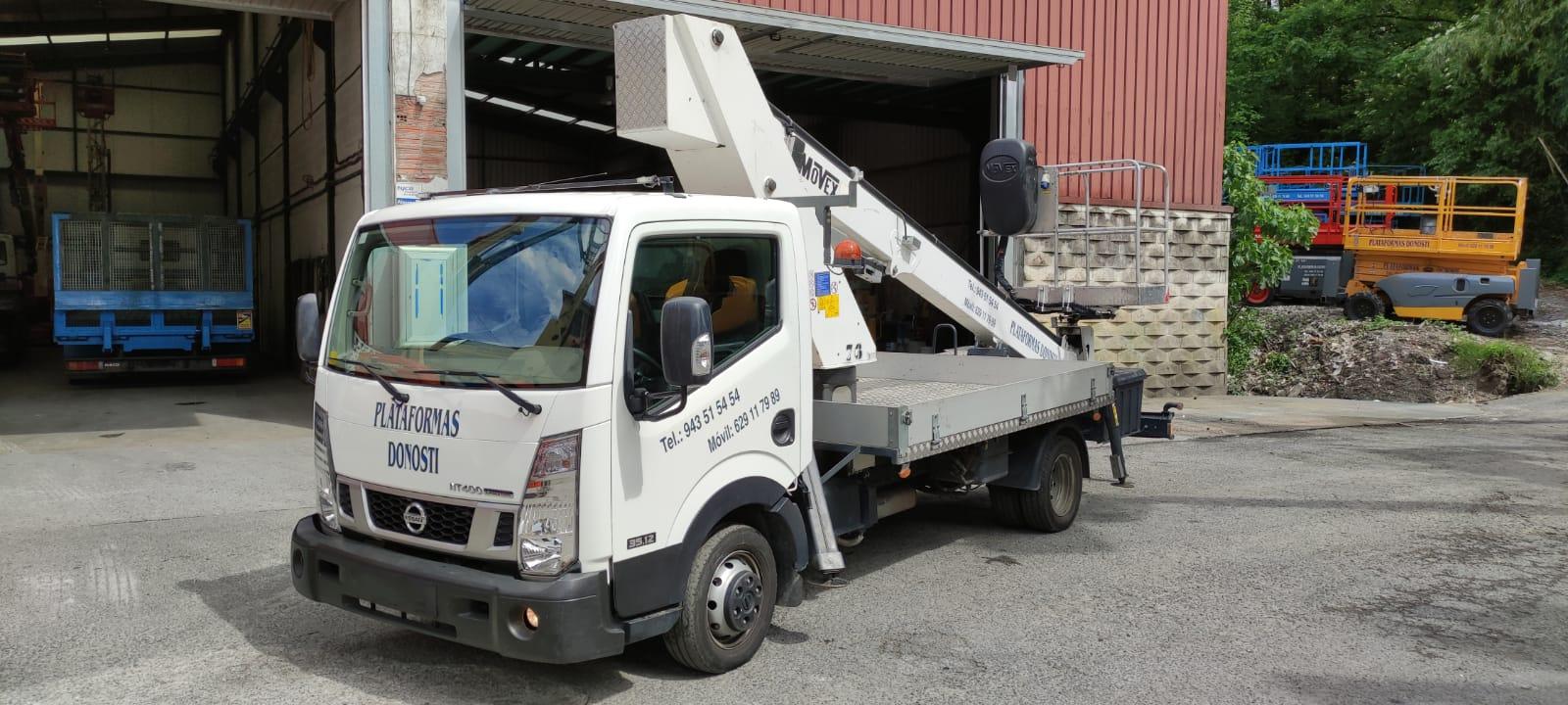 Camiones cesta de hasta 20 metros de altura en Donostia