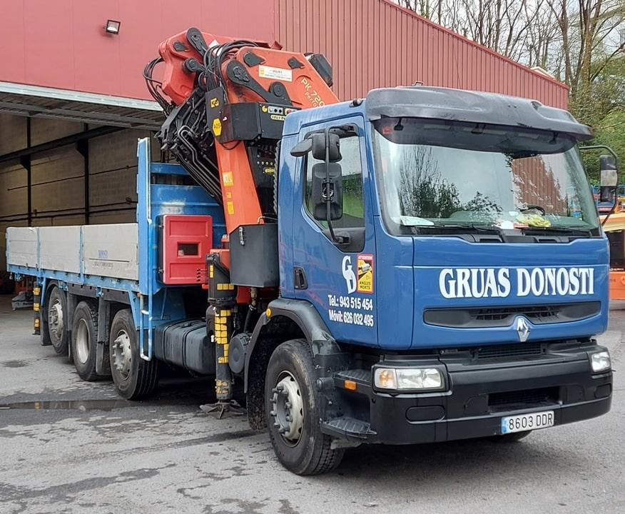 Camiones pluma de 4 ejes con JIB y 34m. de alcance de pluma